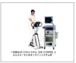 AE-310sシステム AE-310SRDとエルゴメータとのオンラインシステム例