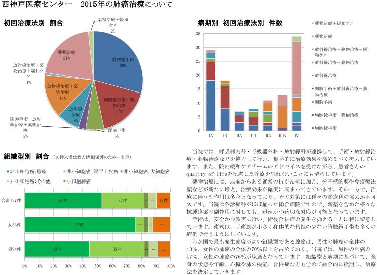 画像2 2015年の肺癌治療について グラフ図2