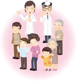 医師、患者のイラスト