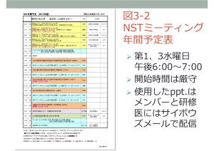 NSTミーティング 年間予定表